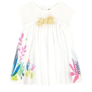 Catimini Girls Dress Size 4 (4a/104) Oasis Garden